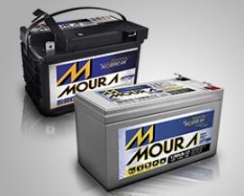 Bateria Moura 12v 80Ah 12MVA-80